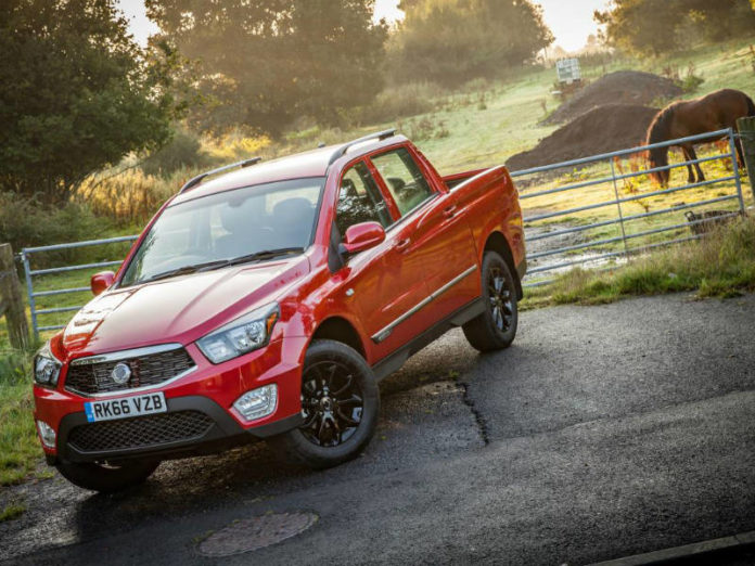 Pick-ups, like this SsangYong Musso, helped lift commercial vehicle sales in November