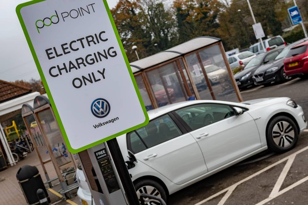 VW tesco and pod point charging
