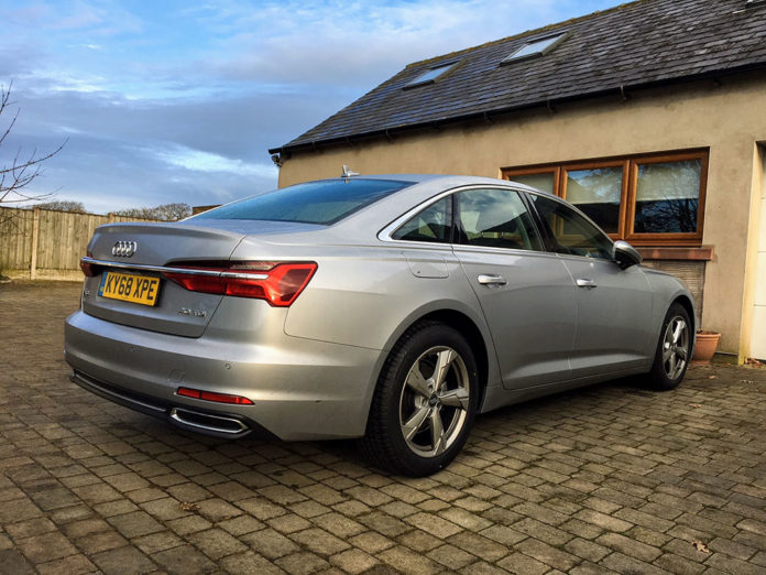 audi a6 40 tdi rear three quarters