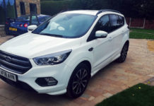 ford kuga st line parked
