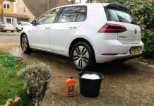 vw e golf washing
