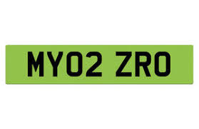 Green number plates
